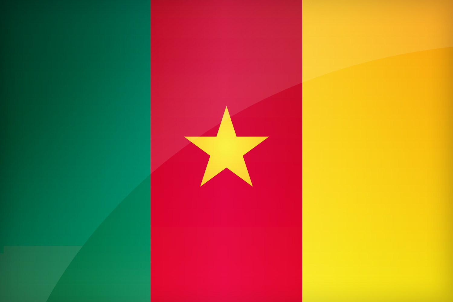 Cameroon Flag Drawing