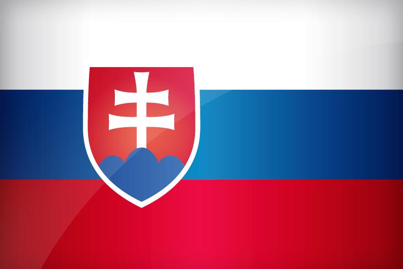 Slovakia Flag Coloring Page