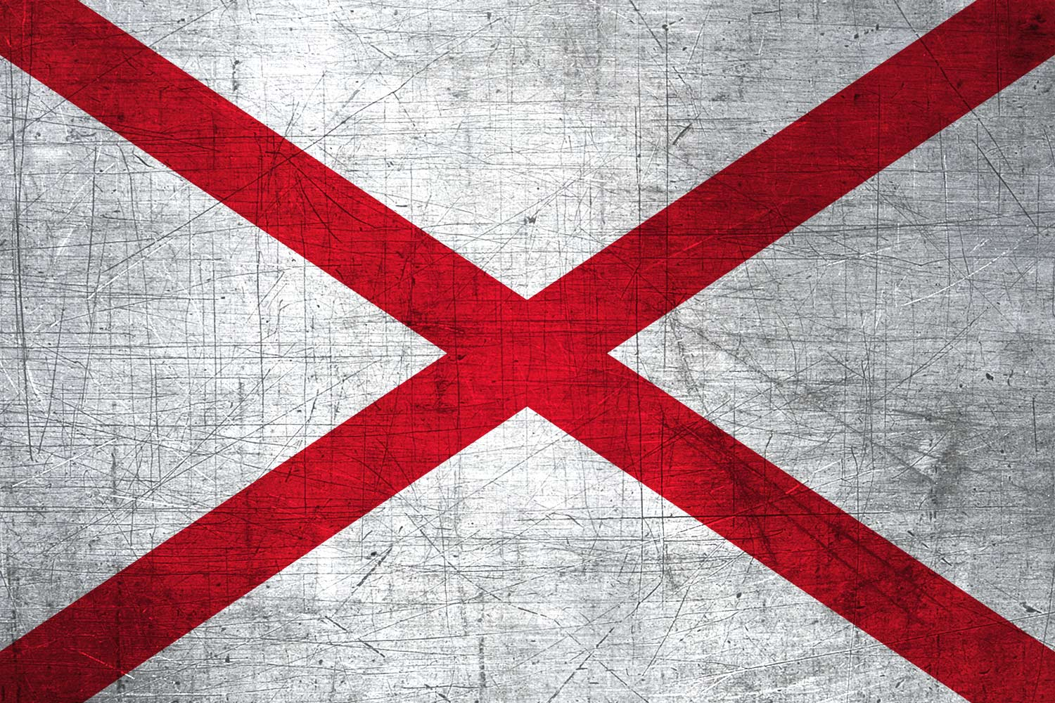 Alabamian Flag Metal Flag Of Alabama Download It For Free