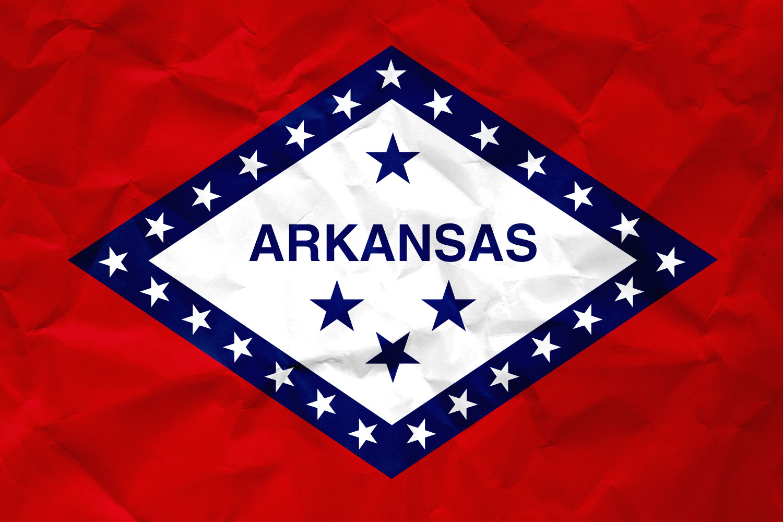 Flag of Arkansas: Realistic Paper Texture on Arkansan's Flag