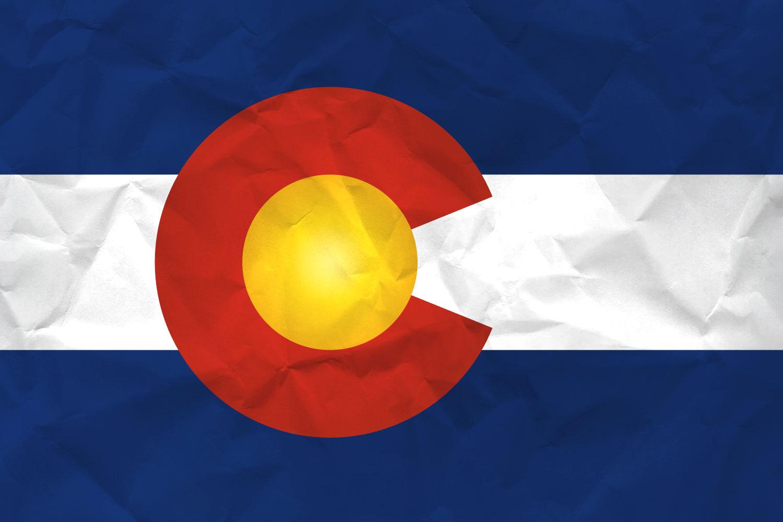 Paper Textured Colorado Flag
