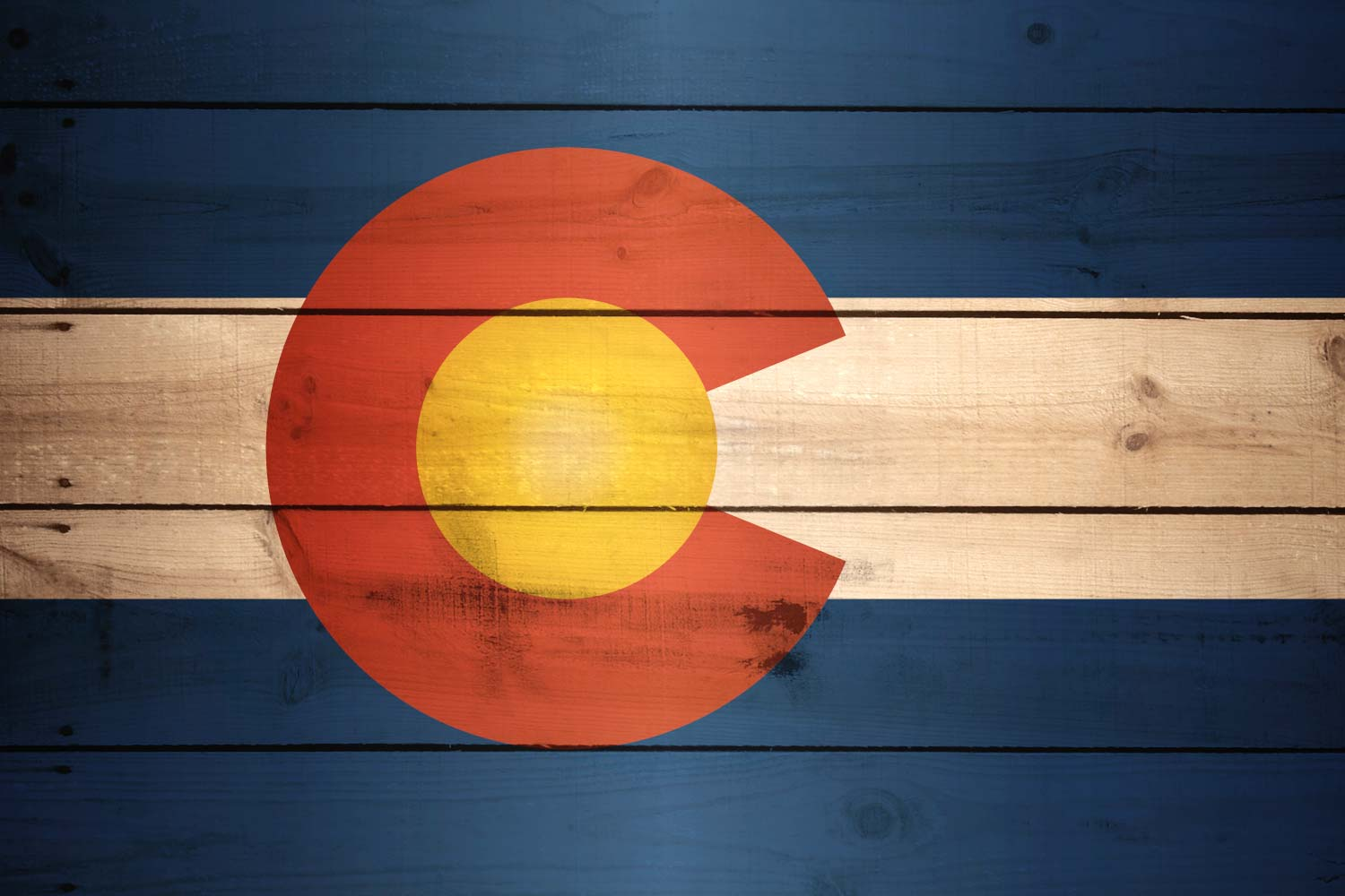 Flag of Colorado - Wood Texture - Download it for free