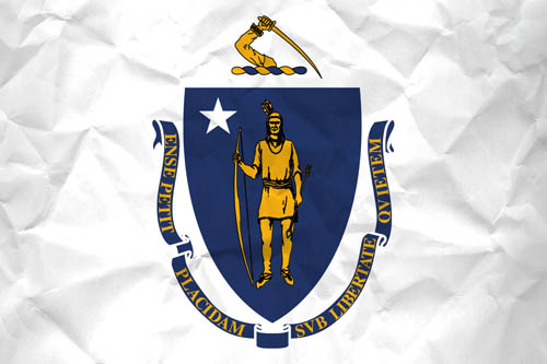 Patriotism >> Flag of Massachusetts with Paper Texture - Download it for free