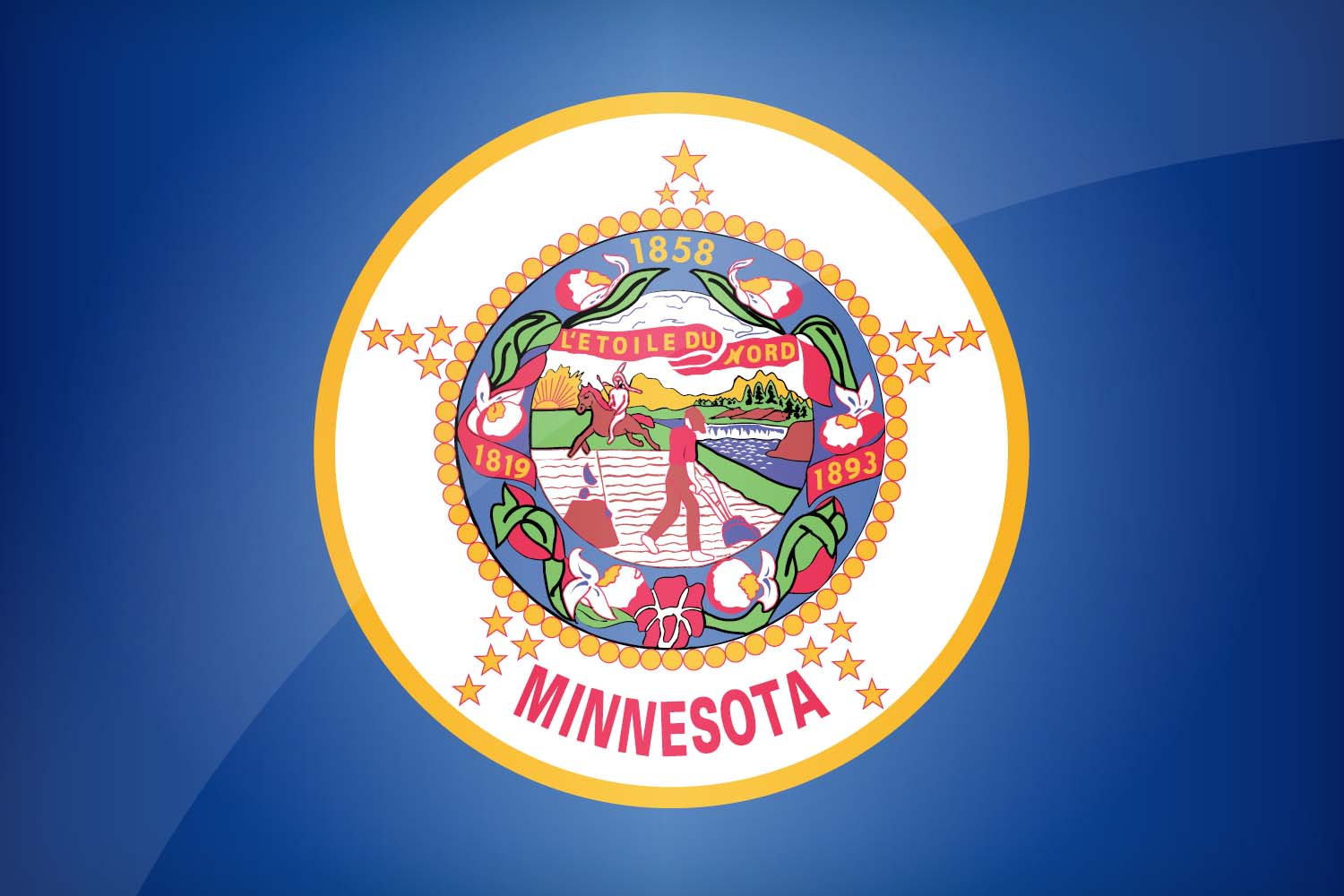 Minnesota Us State Flag Description Download This Flag