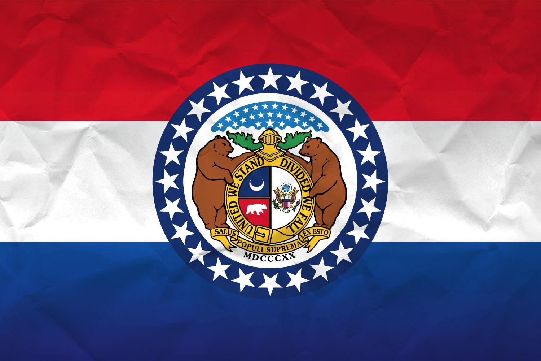 High Resolution Flag Of Missouri Paper Texture