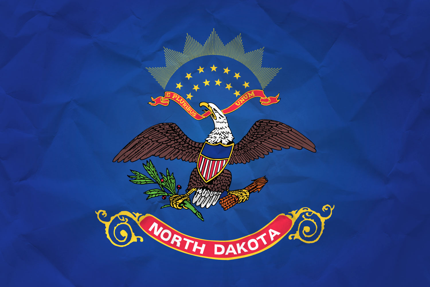 Flag Of North Dakota With Paper Texture Download It For Free - north flags