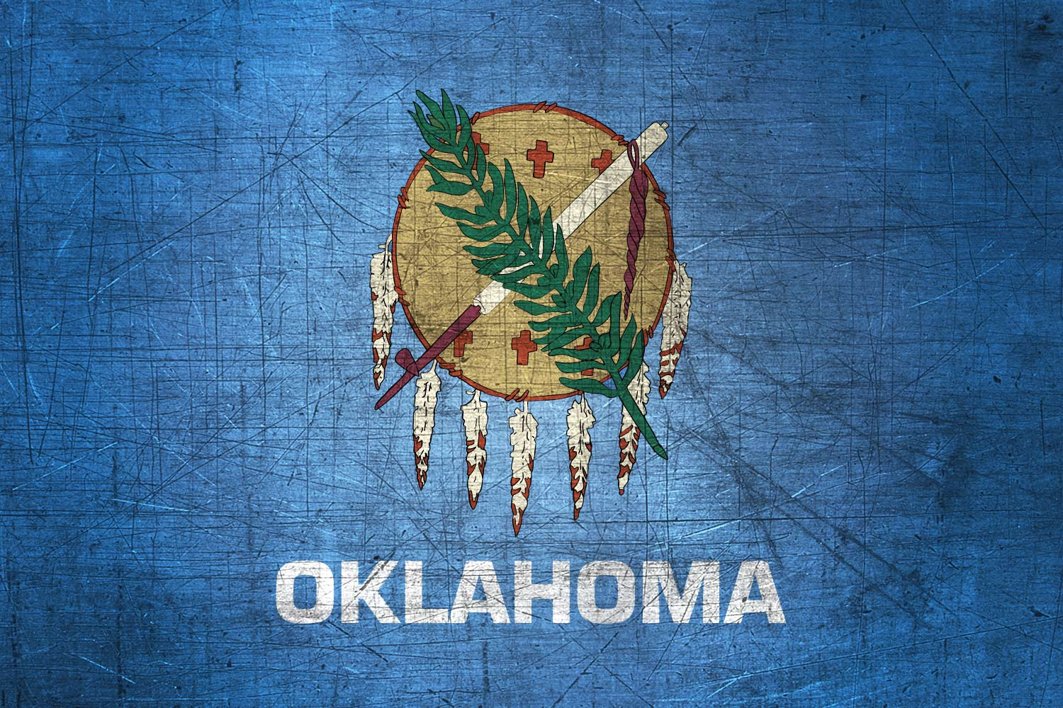 oklahoman flag metal flag of oklahoma download it for free