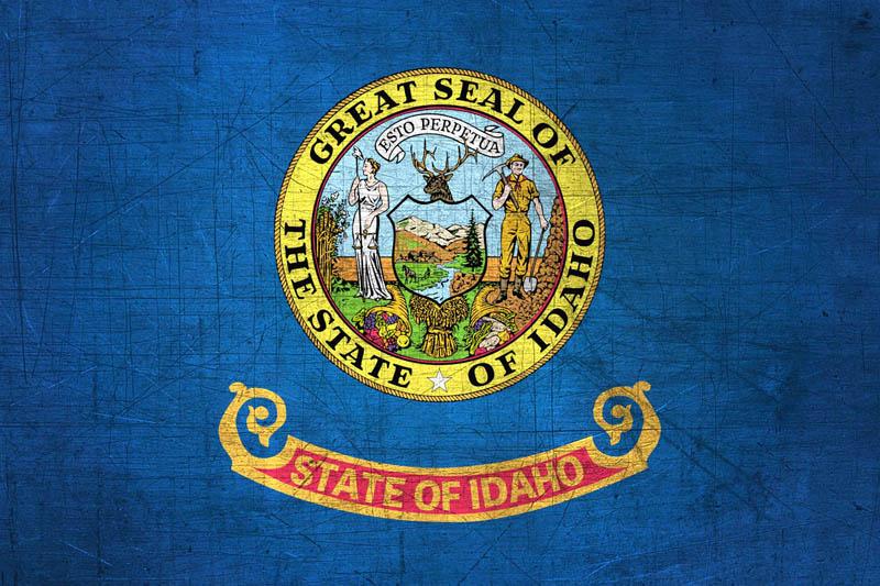 Patriotism >> Idahoan Flag Metal (Flag of Idaho) - Download it for free