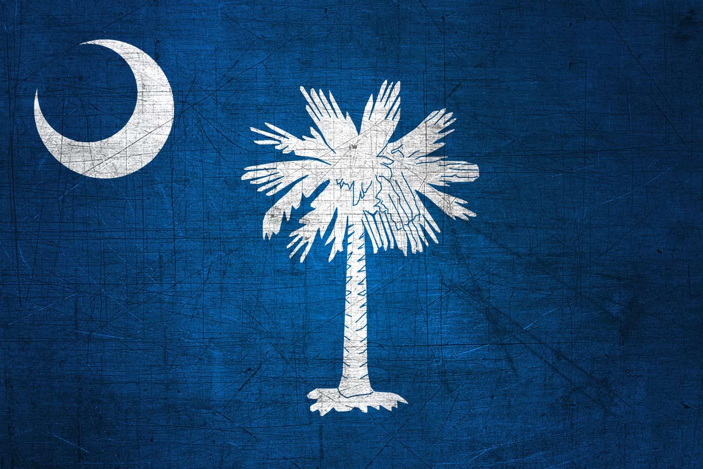south carolinian flag metal  flag of south carolina