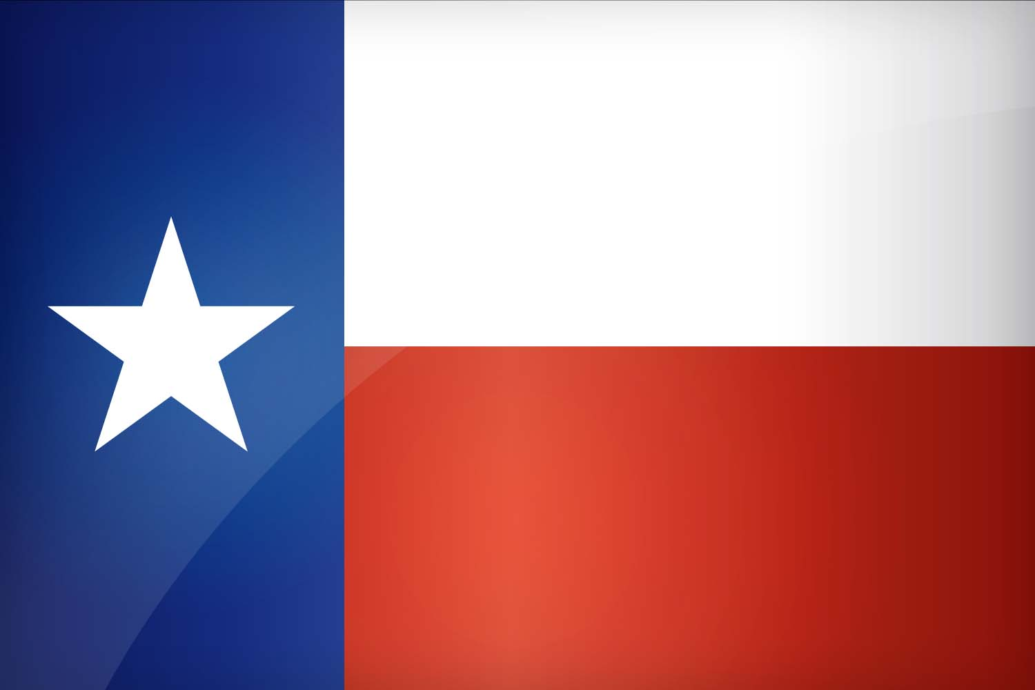 The flag of texas